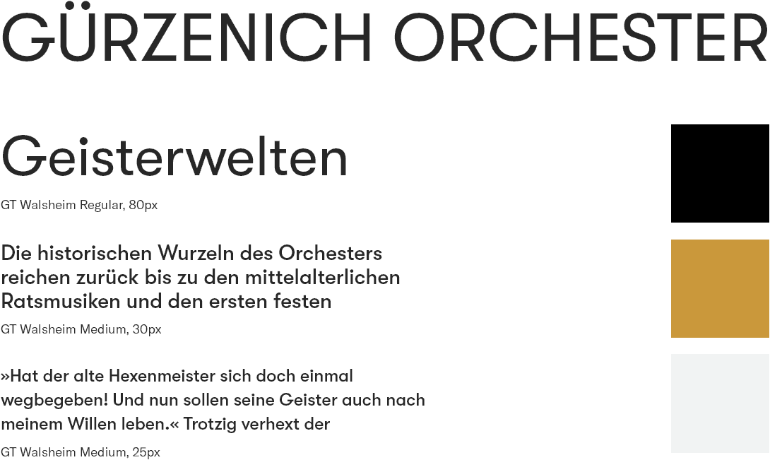 Style Guide –  Guerzenich Orchester | Django, Django Framework, User-Experience Workshop, Responsive, Personas-Modellierung, User Centered Design, Design, Mobile-First, Relaunch, Redesign